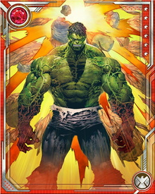 Though Hulk may have a huge body, his physical attributes are high. With its super human legs, it can leap over mountains and run at super speeds.  His sonic clap can blow back enemies.