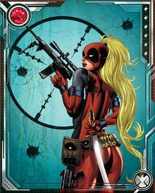 Wanda Wilson was a Deadpool from an alternate timeline, who came into contact with our world's Deadpool when she invited him to join their resistance against the evil version of the Deadpool Corps. They fought together against this menace, which threatened to eliminate the Deadpools from all realities of the multiverse.