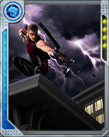 """Hawkeye is also known for his utilization of several """"trick arrows"""" containing explosives, electrical discharges, nets, etc."""