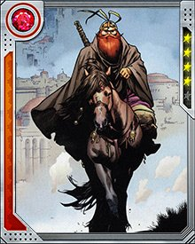 Like his comrades in arms, Volstagg is a master of combat. His preferred weapon is the sword.