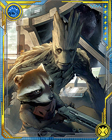 Groot and Rocket Raccoon became fast friends, traveling together and getting into all sorts of trouble. Eventually that trouble brought them to the attention of the TV mogul Mojo.