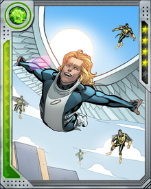 Angel is insulated from some of life's everyday ups and downs by his enormous wealth. He has put his money to good use, providing the X-Men with advanced equipment including upgraded aircraft. Money, however, can't buy him happiness.