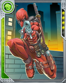 Deadpool can kill anyone at any time with anything. That's what he does, and he's the best there is. He's also got a healing factor that rivals Wolverine's, and reflexes tuned to such a pitch that he can deflect bullets in mid-flight. He's probably about to shoot you right now.