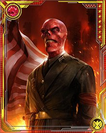 In another timeline, the Red Skull organized a supergroup of villains and defeated America's combined heroes. He then declared himself President of the United States.