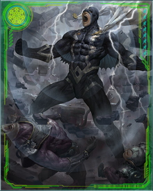 Rescued by a team of heroes from Earth, Black Bolt fought the Skrulls and embarked on a retaliatory campaign against all alien races he deemed a threat to Attilan.