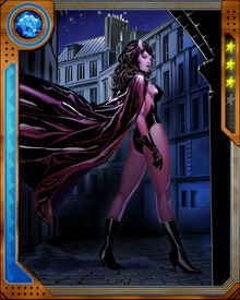 "The Scarlet Witch uses her ""Chaos Magic""—an ability that enables her to change reality. However, this ability of hers is unstable at times and creates a mental burden."