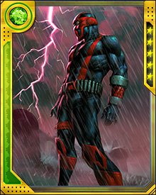 Originally known as Bandit because of his outlaw inclinations, Night Thrasher has always skipped along the line between hero and vigilante. He's not afraid to use violent means to accomplish what he sees as important goals. This can put him at odds with the more moralistic heroes he must fight alongside.