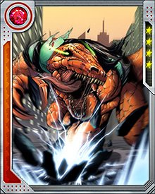Reptil made up for his mistakes in South Dakota by helping to stop Stegron in Wyoming, where he had gone to try to capture Moon Boy. Stegron wanted to get control of Devil Dinosaur. Instead, Reptil helped hide Moon Boy and got him back to the Savage Land.