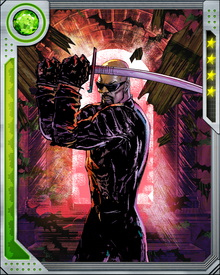 Although he is nominally part of the Mighty Avengers, Blade remains dedicated to his war against vampires. He at times assumes the Ronin identity to give himself greater freedom of movement.