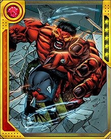 Before he starts to get overwhelmed by too much heat, Red Hulk can control and release heat beams from his eyes. Any form of radiation can power these up, except the background radiation of the Negative Zone.