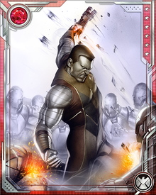 After the departure of the Phoenix Force, Colossus found himself unable to exert full control over his powers. He shifted partially and unpredictably from flesh to organic steel until Cable provided him with a device that helped him re-establish control over his transformation.