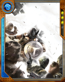 Taskmaster has the ability to copy any of his opponent's moves instantly. These photographic reflexes make him a dangerous foe in battle.