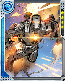 The newest version of the War Machine armor keeps its signature minigun and rocket weaponry, but thanks to Tony Stark the armor can also phase-shift and turn invisible. Rhodes himself is also a new man, after his consciousness was transferred into a clone body during the Avengers' battle against Osborn.